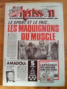 LE HERISSON n°1899 - 1982 HUMOUR - jacqueline DANNO - SPORTS