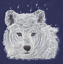 Large Embroidered Zippered Tote - Winter Wolf M1238