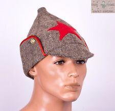 Russian Soviet budenovka winter wool hat size 60-62 USSR Red Army uniform