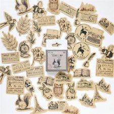 46x/set Vintage Animal Sticker Album Scrapbook Decor Sticker Handmade Cards New