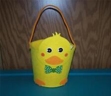 Yellow Duck Felt Basket  ~Party Decoration~Any Occasion~Room Decoration~