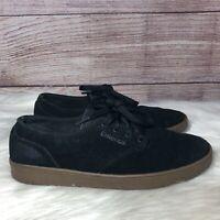 Emerica Romero laced black/black/white skateboard shoe Mens Size 7