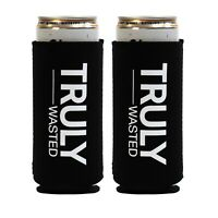 "(2pack) ""Truly Wasted"" Funny Slim Can Koozie/Coozie by Tipsy Umbrella"