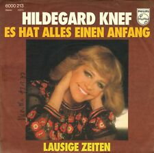 "7"" Hildegard Knef – Es hat alles einen Anfang // Germany 1976"