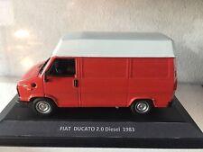 #009 Fiat Ducato 2.0 Diesel 1983 Rosso - DIE CAST 1:43