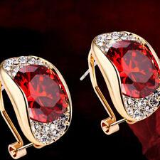 Gorgeous Style 18K Golden Filled AAA CZ Hoop Earrings for Women Anti Allergic