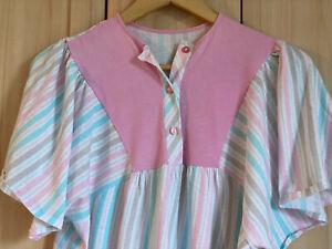 Damen Nachthemd kurzarm auch z. Stillen