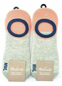 Madewell Womens Cloudlift No-Show Sneaker Socks Pack of 2 NWT One Size Fits all