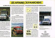 PUBLICITE ADVERTISING 064  1973   MERCEDES-BENZ    utilitaire 307 & 407D  ( 2 pa