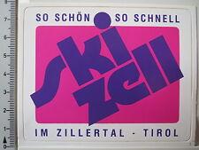 Aufkleber Sticker Ski Zell - Im Zillertal - Tirol - Skifahren - V1 (2954)