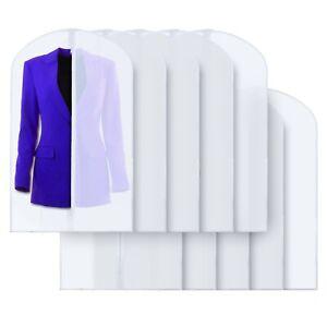 "40"" PEVA Hanging Translucent Garment Bags Travel Storage Dresses Suits 10 Pack"