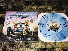 Steel Panther Band Signed LP Record Record Heavy Metal Rules 2019 Free Shipping