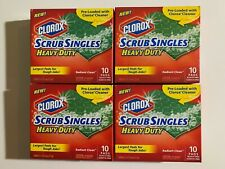 Scrub Singles - 4 packs of 10 pads = 40 pads - Free Shipping