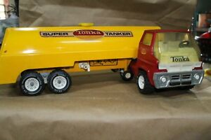 Vintage 1970's Tonka Super Tanker Red/Yellow