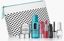 New Clinique 7-Piece Gift Set $75 Value Smart Night Lipstick Ginger Flower Bag