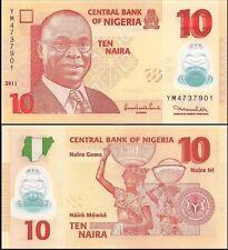 Nigeria 10 Naira, 2011, P-39, Unc World Currency