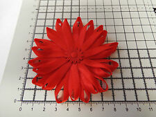 UK-Large,Red - Satin Ribbon Flowers-  Appliques,Trimmings ,Wedding- 90mm x 1