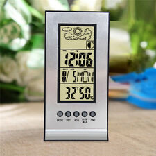 Desktop LCD Digital Display Alarm Clock Temperature Thermometer Calendar Snooze