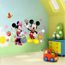 Mickey Minnie Mouse Wall Stickers Removable Decal Kids Room Decors Nursery DIY