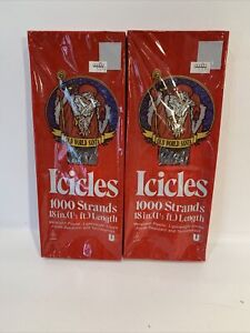 Vintage Silver Christmas Icicles Tinsel SEALED Lot 2 Boxes. MADE IN USA