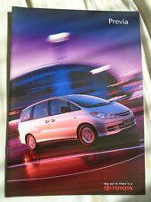 Toyota Previa range brochure Mar 2002