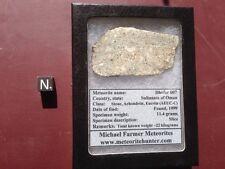 Rare Achondrite meteorite, Eucrite type. Dhofar 007 Complete slice from Oman