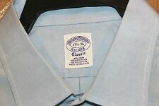 BROOKS BROTHERS EST1818 CLASSIS BLUE SHIRT SIZE 17 1/2-36 MADE MALAYSIA