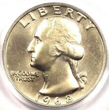 1968 Washington Quarter 25C - Certified PCGS MS67 - Rare Superb Gem in MS67!