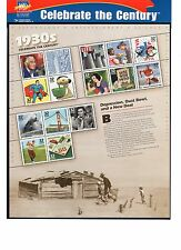 SCOTT # 3185  Celebrate the Century 1930's Issue U.S. Stamps MNH - Sheet of 15