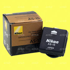 Nikon AS-15 Sync Terminal Adapter (Hot Shoe to PC) D7500 D5600 D3400 D750 D610