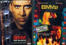 8MM 1&2:Eight Millimeter Sex Underground-Nicolas Cage-Joaquin Phoenix- NEW 2 DVD
