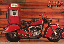 POSTER: MOTORCYCLES: TUNE UP - NIGHT LUBE - OLD INDIAN - FREE SHIP #3074 LP50 N