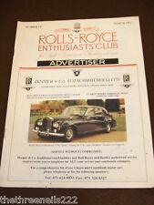 ROLLS ROYCE ENTHUSIASTS CLUB ADVERTISER #117 - MARCH 1992 HOOPER & CO