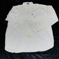 Levi's Authentic Western Wear Vintage RARE Men's White Button Shirt Size L/XL