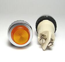2x Rafi Schalttafel Einbau-Leuchte 1.61012, 28 mm, f. E14/2W Lampe, orange