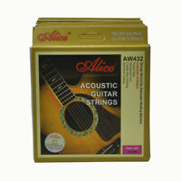 6Sets Alice Acoustic Guitar Strings Hexagonal Core Coated Copper AW432SL 011