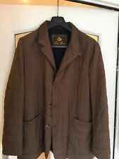 Loro Piana Quilted Jacket/ Coat, Brown Exterior, Blue Cashmere Inside.