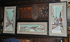 Lovely 3 Piece  Vintage  Original  Painting  on Canvas