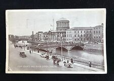 Postcard Four Courts & River Liffey Dublin, Posted 1952, R1402 - PCBOX1