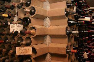 Terracotta wine rack, each unit holds 2 bottles, stackable, versatile, rustic
