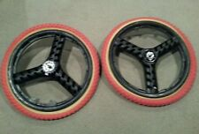"NEW 20"" MAG WHEELS 3 SPOKE NEWTIRES TUBES FOR GT DYNO HARO OR BMX BICYCLES"
