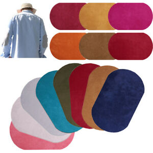 1Pair Oval Shape Suede Sewing Patches Iron-on Elbow Knee Repair Kit Clothing