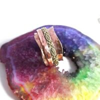 Solid Copper & Brass Meditation Ring Statement Ring Spinner Ring All Size
