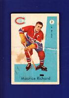 Maurice Richard HOF 1959-60 Parkhurst Hockey #2 (FAIR) Montreal Canadiens
