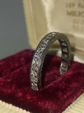 An Art-Deco Diamond Eternity Band in 18K White Gold. Circa 1930's. UNDER OFFER.
