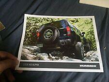 2008 Hummer H3 Alpha SUV Original Brochure Prospekt