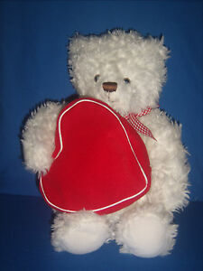 Hallmark From My Heart White Bear Zippered Heart Pouch Valentines Mother's Day