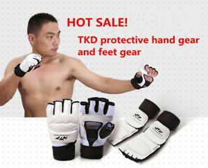 Taekwondo Foot Hand Guard Protector Martial Art Sparring Instep Gear Karate