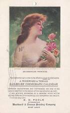 Antique Advertising Postcard c1907 Woodward & Tiernan Calendars Emb. 15374