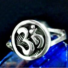 Om sello anillo 925 plata Buda Shiva hindú Wicca luckcharm 2